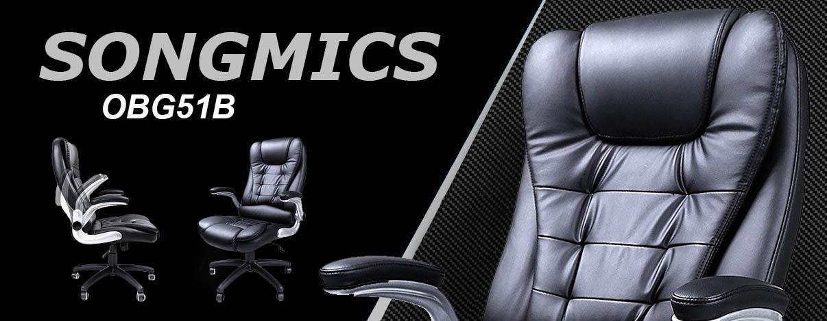 Songmics OBG51B silla gaming para oficina