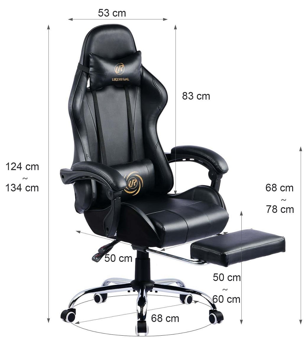luckracer silla gaming dimensiones